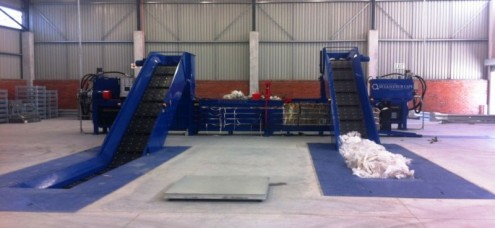 Bh- 28C & Bh-28D balers both conveyour fed. Distrabution Centre Installation